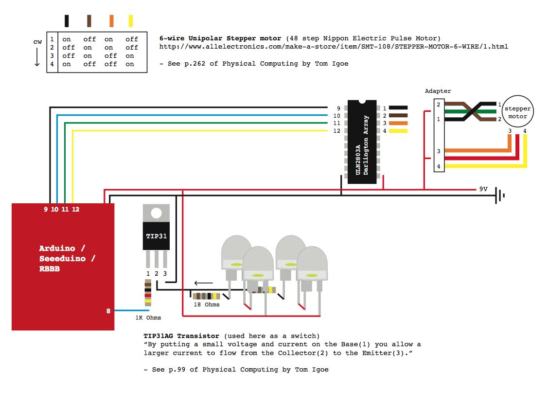 6 Wire Unipolar Stepper Motor Wiring Solutions Arduino