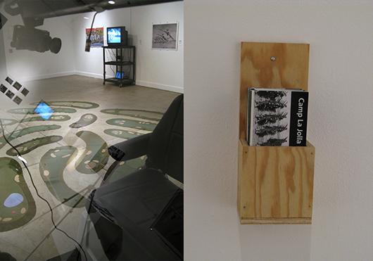 Camp La Jolla Military Park museum installation, Marcuse Gallery, La Jolla, CA