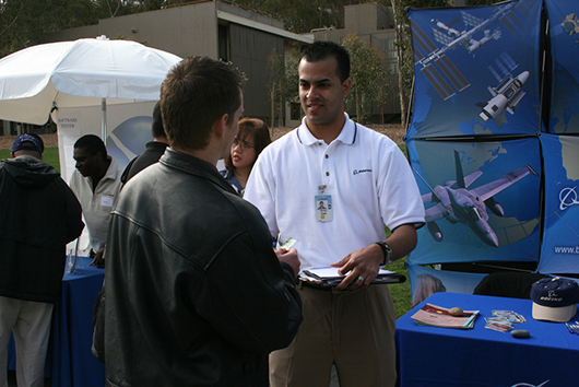 Boeing defense contractor representatives recruiting at UCSD Triton Job & Internship Fair, University of California, San Diego, La Jolla, CA, 2007, archival inkjet print, 30