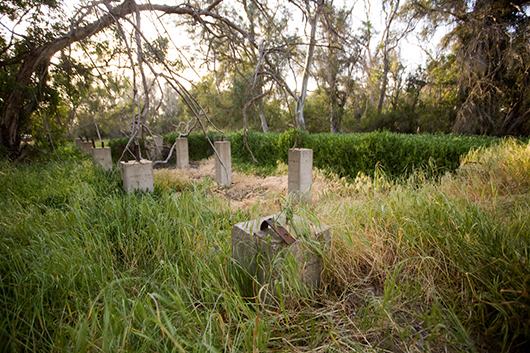 The remains of a structure from Camp Callan, University of California, San Diego, La Jolla, CA, 2008, archival inkjet print, 30
