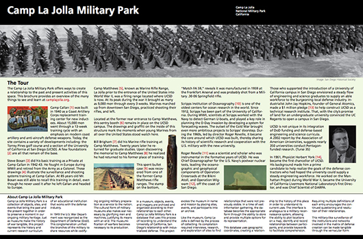 Camp La Jolla Military Park Brochure (front)