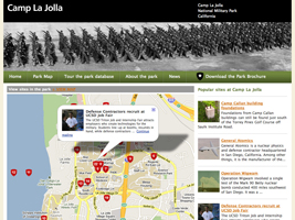 Camp La Jolla Military Park website and data entry system