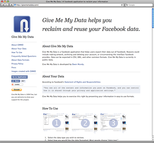Give Me My Data