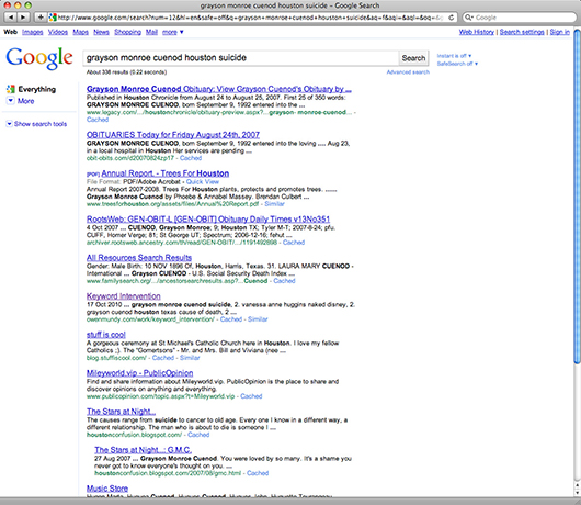Keyword Intervention: Logged search term by unknown user on October 27, 2010