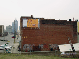 Fat Food, by Rachel and Diana, Billboard Generation III, Indianapolis, IN, 2005
