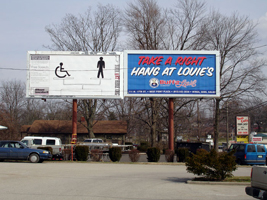 Equality for the Handicapped, by Doyoung, Billboard Generation III, Bloomington, IN, 2005